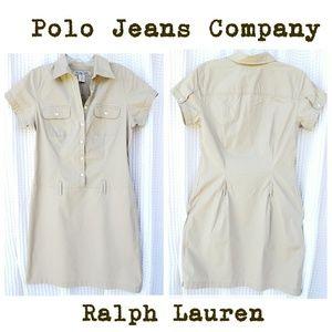 Polo Jeans Company shirt dress khaki sz M